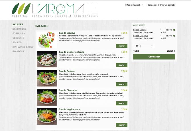 LAromate_portfolio_livepepper_commande_en_ligne_restaurant