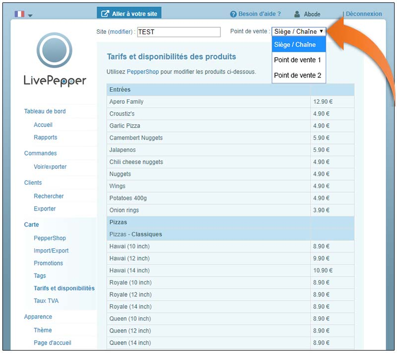 fonctionnalités-livepepper-gestion-des-tarifs-et-disponibilites