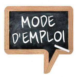 "Ardoise ""Mode d'emploi"""